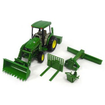 Big Farm 1:16 John Deere 4066R Utility Tractor with Loader, Rear Blade and Snowblower