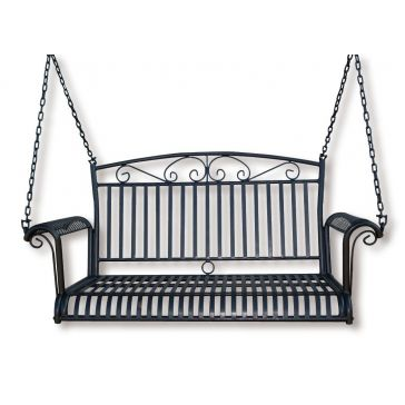Backyard Expressions Wrought Iron Porch Swing