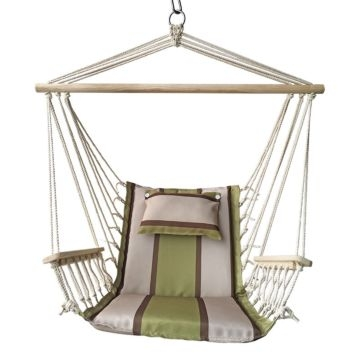 Hammock Chair with Wooden Arms - Assorted colors