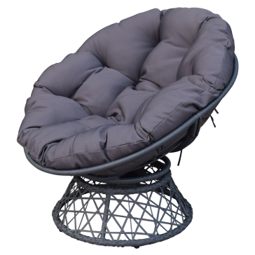 Backyard Expression Swivel Wicker Chair