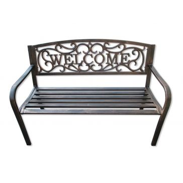 Backyard Expressions Welcome Garden Bench