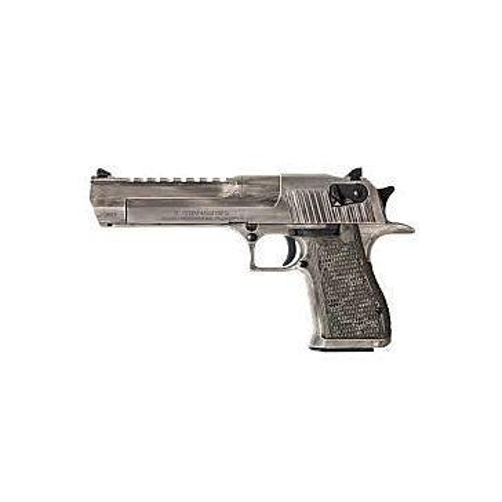 """Desert Eagle .50AE Semi-Automatic Pistol  6"""" Barrel White Matte Distressed"""