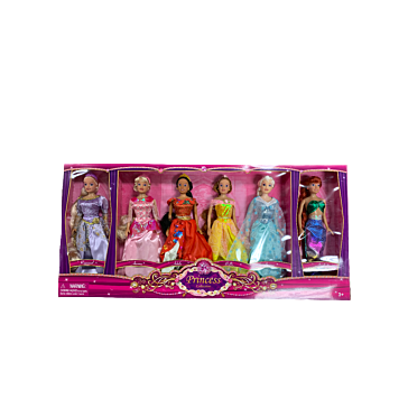 Harbour Trade Princess Collection Dolls 6-Pk Gift Set