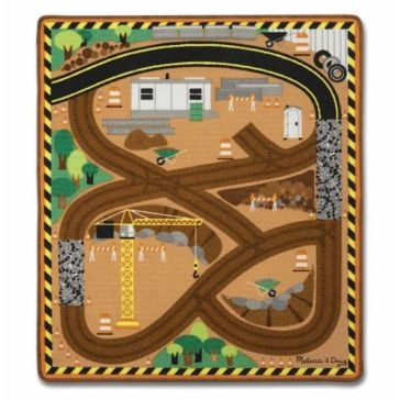 Melissa and Doug Round the Construction Zone Work Site Rug