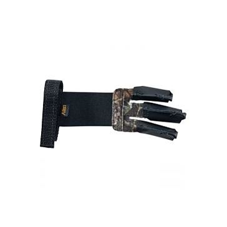 Allen Camo/Black Leather Archery Shooter 3 Finger Glove