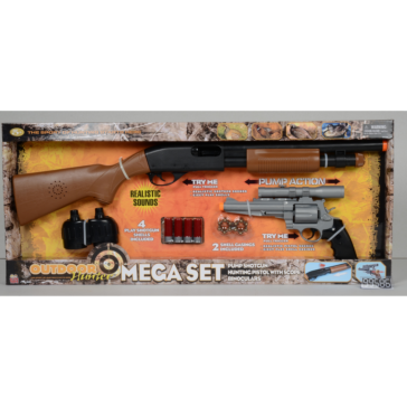 Kidz Toyz Outdoor Hunter Pump Shotgun, Pistol, and Binocs Set