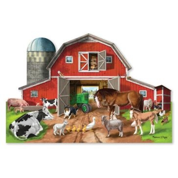 Melissa & Doug Busy Barn Yard Shaped Floor Puzzle - 32 Pieces