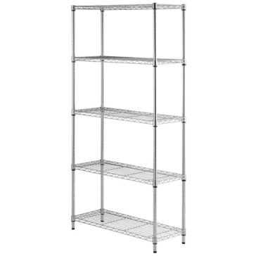 5 Tier Chrome Shelving