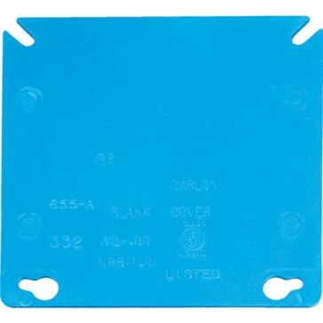 Thomas & Betts Blank Square Box Cover A400R-CAR
