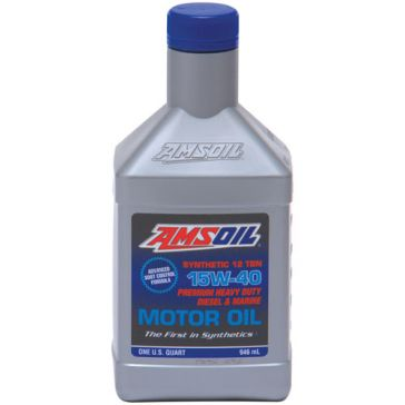 Amsoil 1qt SAE 15W-40 Heavy-Duty Diesel and Marine Motor Oil AMEQT