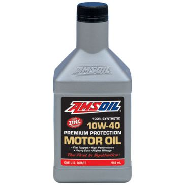 Amsoil 1qt SAE 10W-40 Synthetic Premium Protection Motor Oil AMOQT
