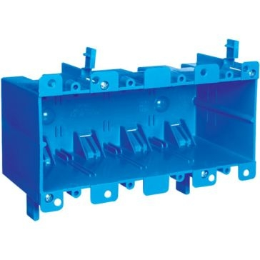 Thomas & Betts PVC Outlet Boxes Four Gang B468R