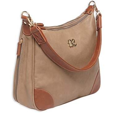 Bulldog Hobo Style Concealed Carry Purse Taupe/Tan