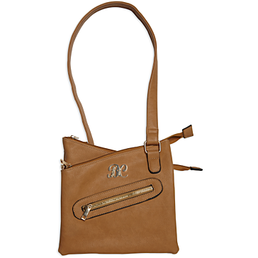 Bulldog Cross Body Style Concealed Carry Purse Tan