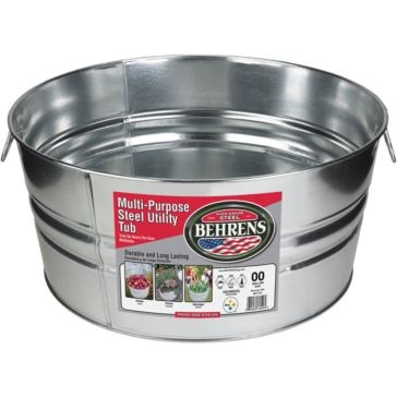 Behrens Round Galvanized Steel Tub