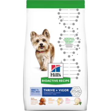 Hill's Bioactive Recipe Adult 7+ Small Breed Thrive + Vigor dog food