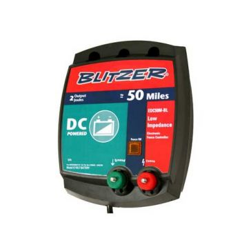 Blitzer 50-Mile Low Impedance DC Fence Charger EAC50M-BL