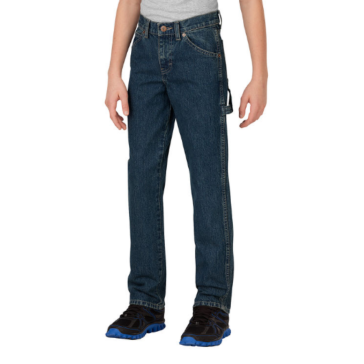 Dickies Boys' Relaxed Fit Straight Leg Denim Carpenter Jeans