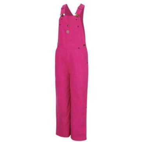 Carhartt Girls Pink Bib Quilt Lined Overall