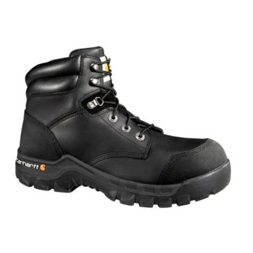 Carhartt Mens 6in Rugged Flex Waterproof Boots Black CMF6371