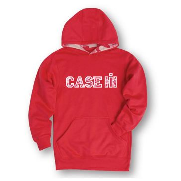 Case IH Girls Varsity Camo Raspberry Lined Pink Camo Youth Pullover Hoodie