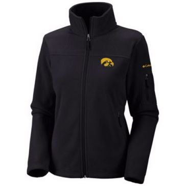 Columbia Womens Collegiate Give and Go Full Zip Fleece Jacket - Iowa
