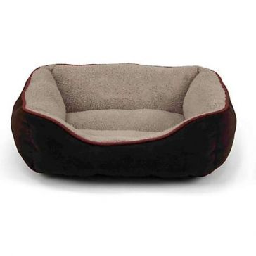 Pet Box Bed Faux Suede 25""