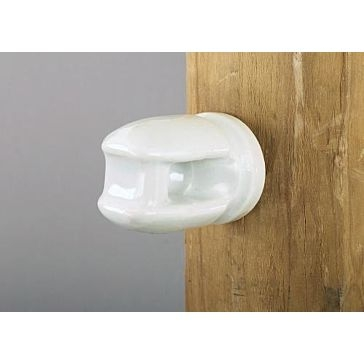 Dare Electric Fence Porcelain Line Insulator with Lag Bolt Large