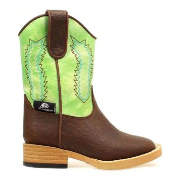 DBL Barrel Kid Zip Wyatt Cowboy Boots