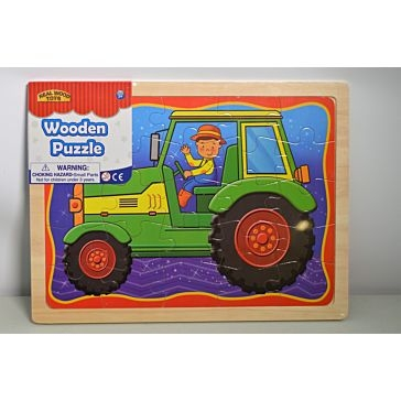 Wood Vehicle Puzzle Assortment
