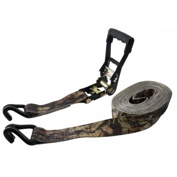 Erickson 2in x 27ft 10,000lb Rubber Handle Ratchet Hook Camo Strap