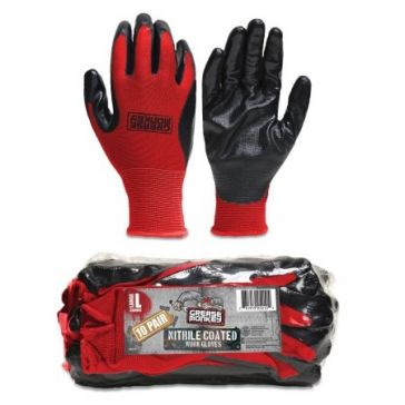 Grease Monkey Nitrile Coated Gloves 10pk.