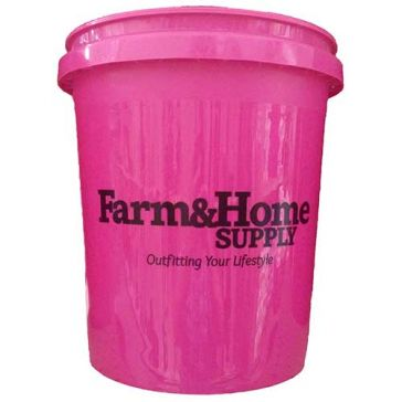 Farm & Home Logo 5 Gallon Bucket Pink
