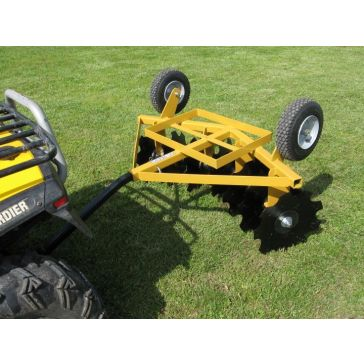 Worksaver ATV-Garden Tractor Flip-Over Single Gang Disc Implement FOD-16