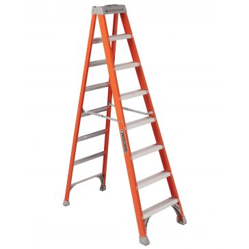 Louisville 8 ft. Fiberglass Stepladder Type 1A 300lb FS1508