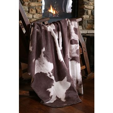 Carstens Chocolate Cowhide Throw