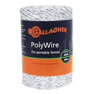 Gallagher 656ft White Poly Tape G62304