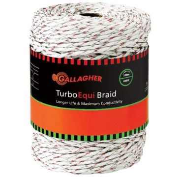 Gallagher White Turbo EquiBraid G62174