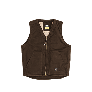 Berne Washed V-Neck Bark Vest