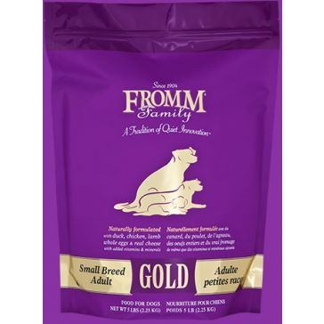 FROMM Gold Small Breed Adult Dog Food - 5lb