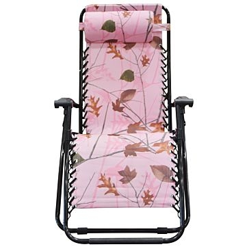 WFS Zero Gravity Lounger Chair Pink Camo
