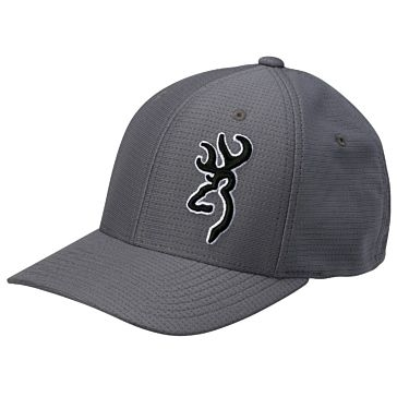 Browning York Gray Flex Fit Cap
