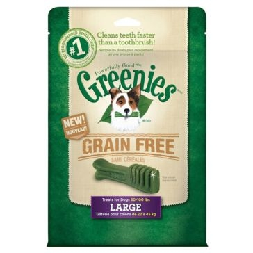 Greenies Grain Free Dental Chews Dog Treats - Large