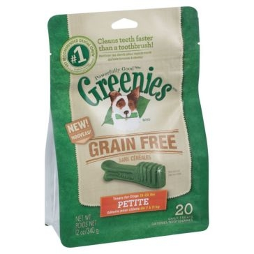 Greenies Grain Free Dental Chews Dog Treats - Petite