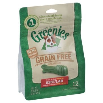 Greenies Grain Free Dental Chews Dog Treats - Regular