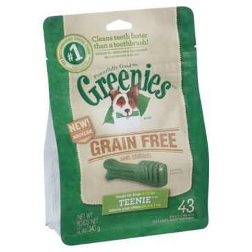 Greenies Grain Free Dental Chews Dog Treats - Teenie