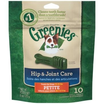 Greenies Hip & Joint Care Dental Chews Dog Treats - Petite