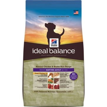 Hill's Ideal Balance Natural Chicken & Brown Rice Recipe Mature Adult Dry Dog Food