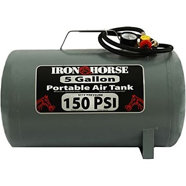 Iron Horse 5 Gallon 150 PSI Portable Air Tank IHCT-05