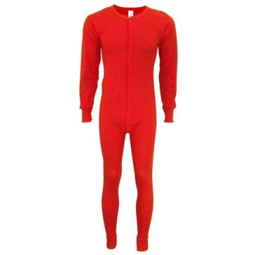 Indera Red Unionsuit